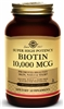 Solgar Super High Potency Biotin 10,000mcg, 120 Vegetable Capsules