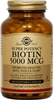 Solgar Biotin 5000 mcg, 100 vegetable capsules