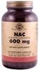 Solgar NAC 600mg, 120 Veg Caps (BEST BY 08/10)