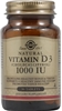 Solgar Vitamin D3 (Cholecalciferol) 1000 IU, 90 Tablets