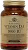 Solgar Vitamin D3 (Cholecalciferol) 1000 IU, 250 Softgels