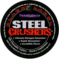 PS Black Label Dymethaberry Steel Crushers, 100 Chewable Tablets
