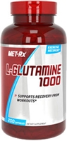MET-Rx L-Glutamine 1000, 200 capsules