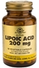 Solgar Alpha Lipoic Acid 200mg, 50 Vegetable Capsules