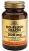 Solgar No-Flush Niacin 500mg, 50 Vegetable Capsules (BEST BY 07/11)
